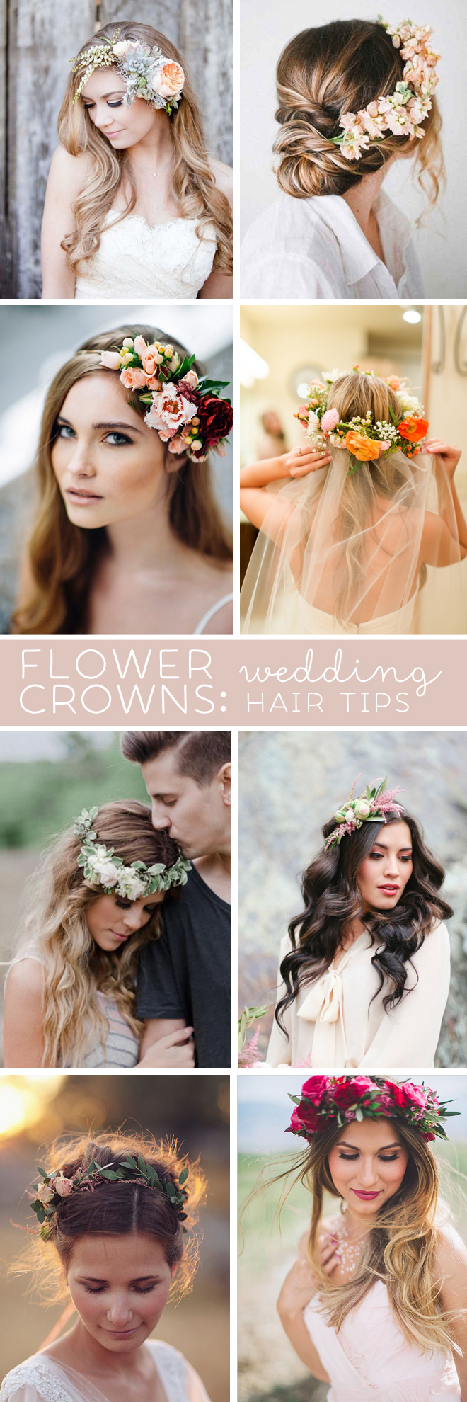 Awesome wedding hair tips for wearing flower crowns izmirmasajfo