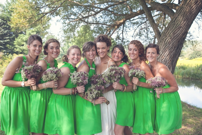 Darling green bridesmaids!