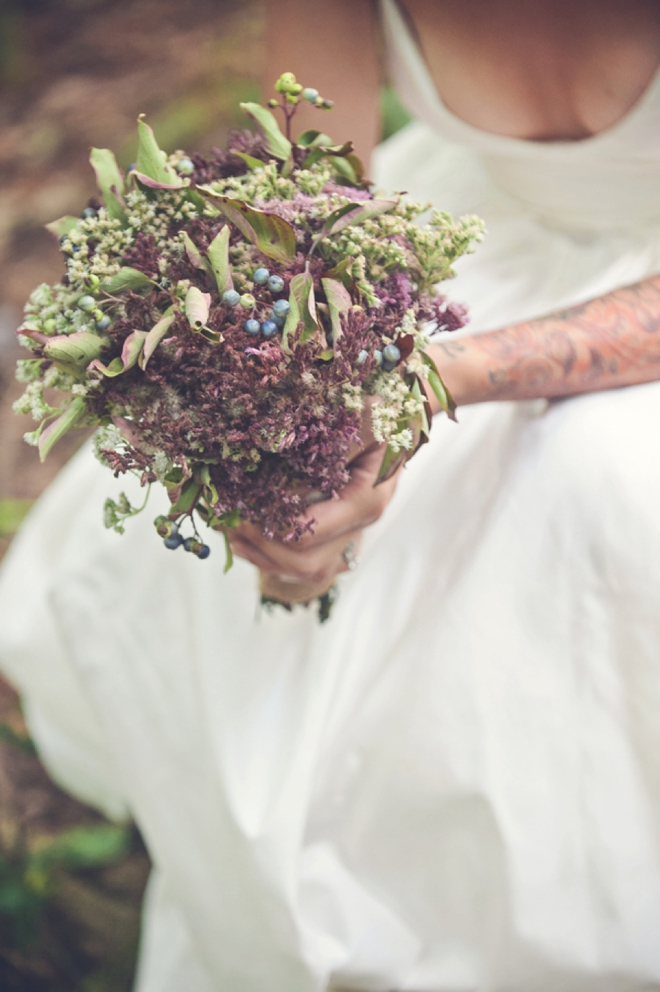 Hand-picked wedding bouquet