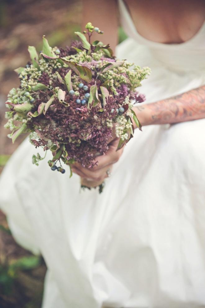 Hand-picked wedding bouquet
