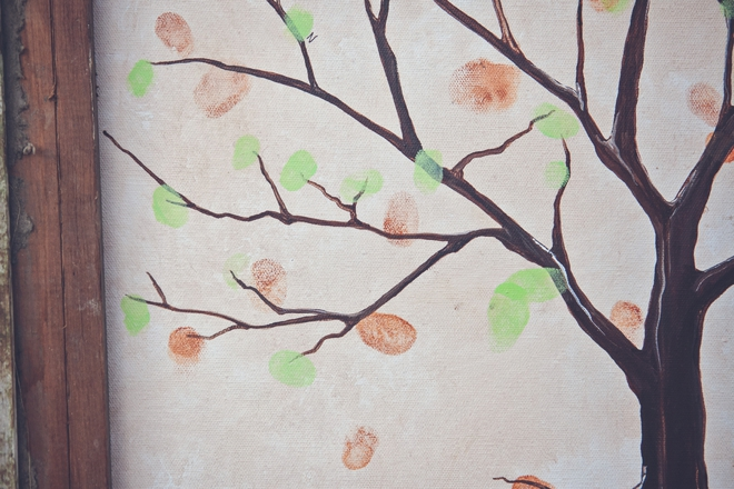 Large thumbprint tree guest book