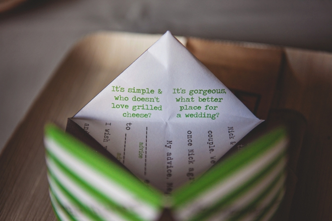 Wedding cootie catchers