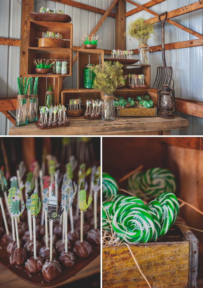 Awesome rustic candy table