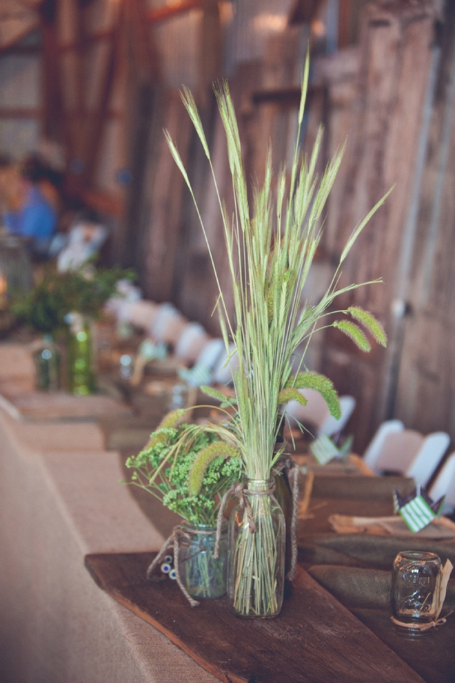 Rustic brown and green, cabin wedding