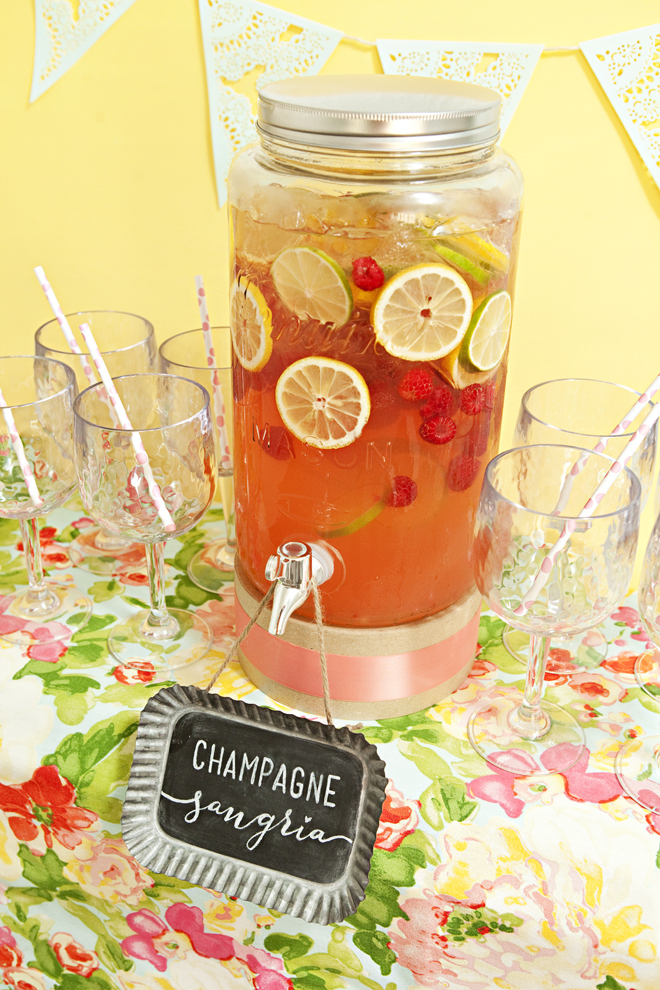 Delicious and simple Champagne Sangria Recipe