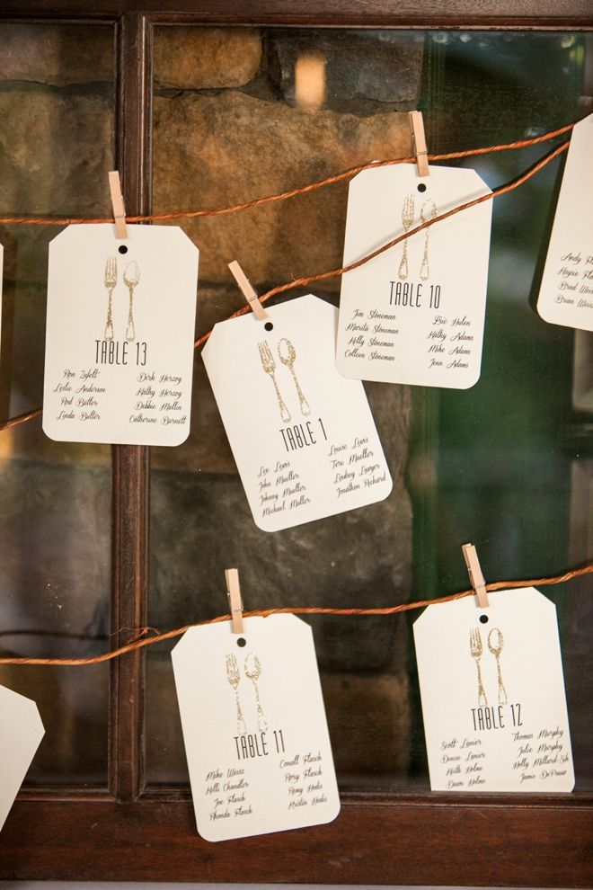Darling fork + spoon seating cards