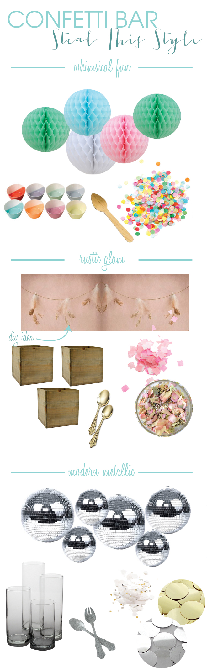 DIY Confetti Bar