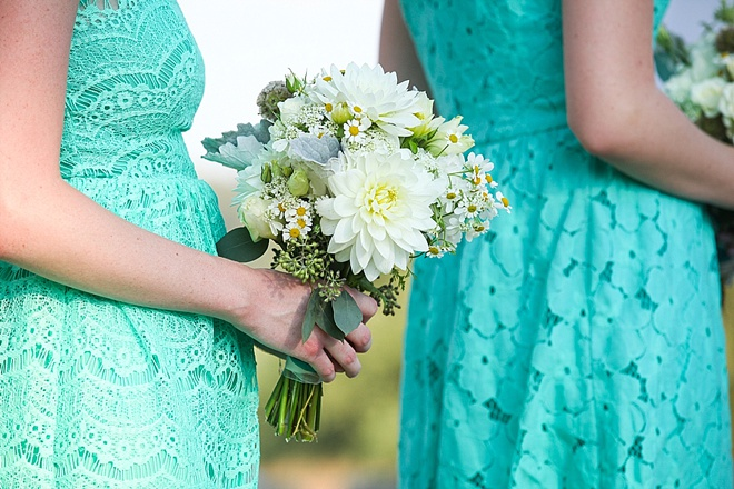 Turquoise bridesmaids