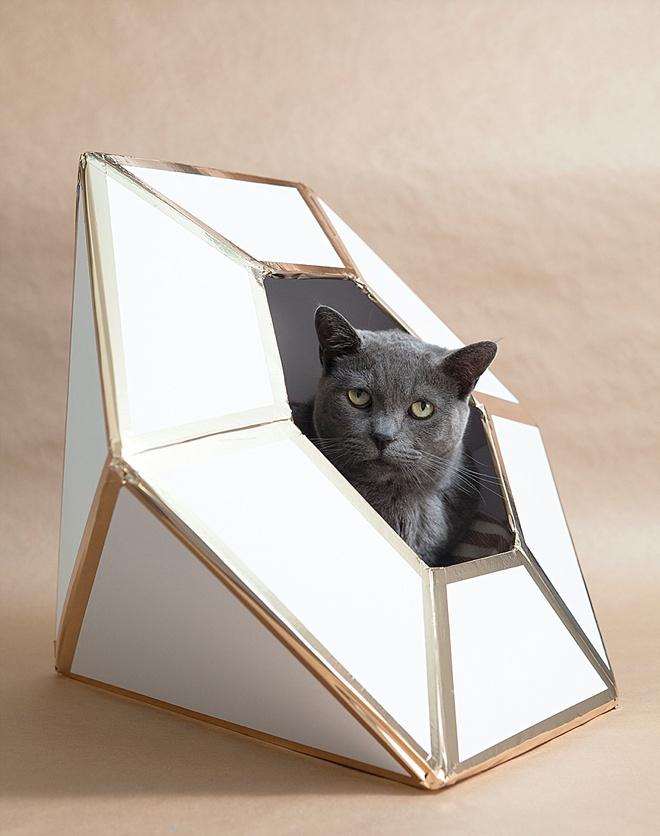 DIY giant diamond cat house
