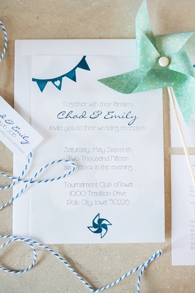 Lovely, DIY pinwheel themed wedding