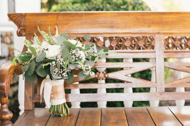 Beautiful rose and eucalyptus bouquet