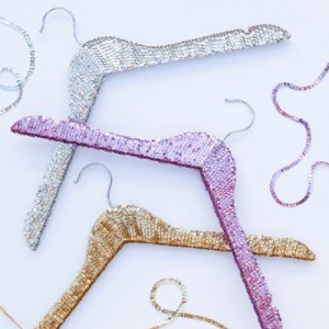 DIY - how to make sequin hangers!