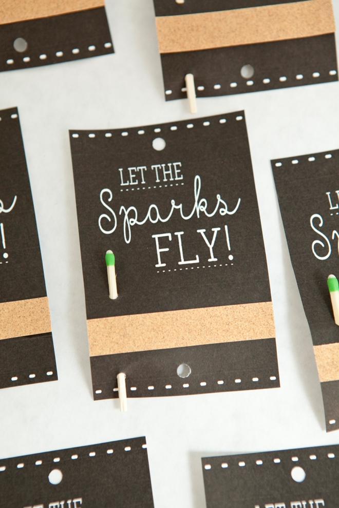 DIY Wedding Sparkler Tag and Sign project, with free printables!