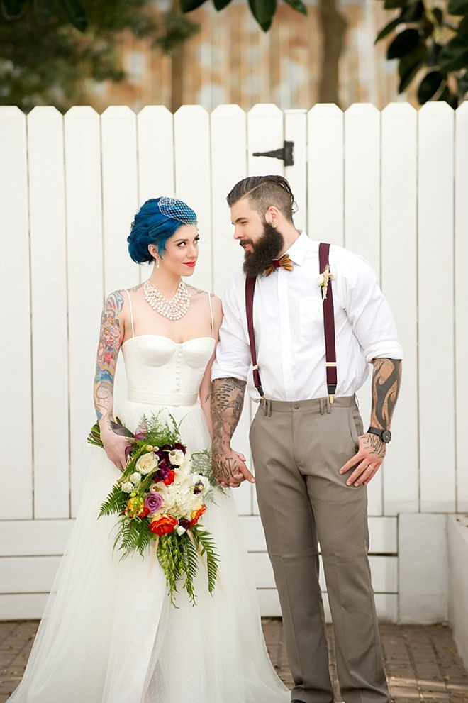 Awesome, industrial-chic romance wedding inspiration shoot!