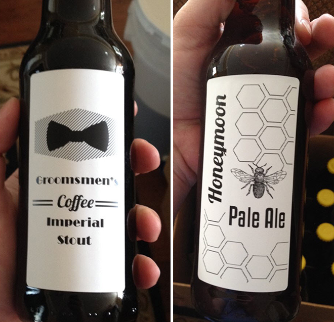 DIY beer by the groom!