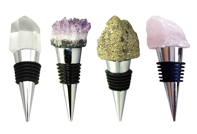 Gemstone Wine Stoppers from Karin Ashley