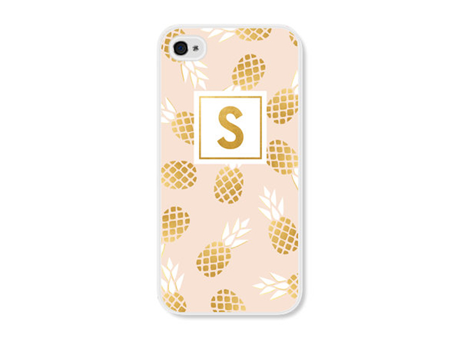 Personalized iPhone 6 case with gold pineapples from Field Trip