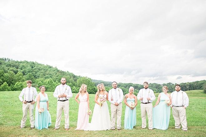 Gorgeous wedding party