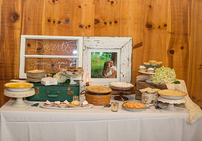 Wedding pie dessert bar!