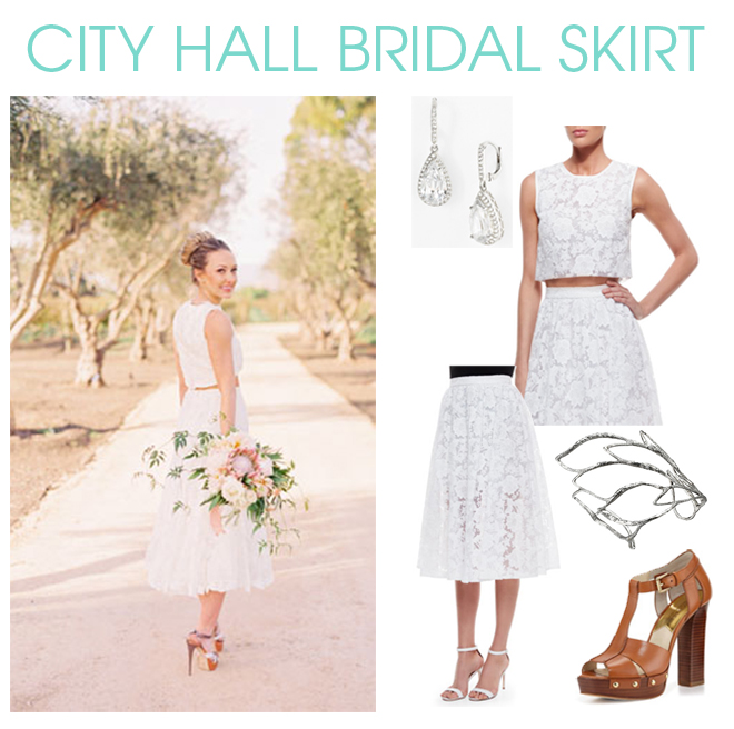 Bridal Skirt for City Hall Wedding