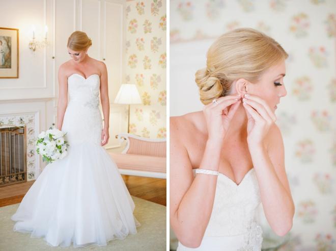 Bride getting ready...