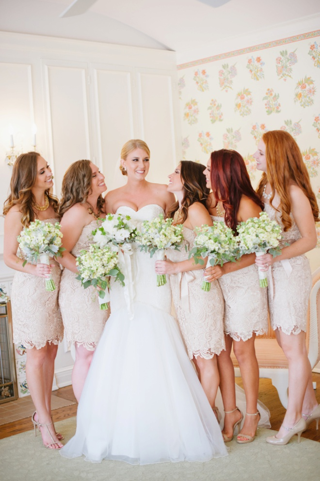 The bride and her gorgeous maids