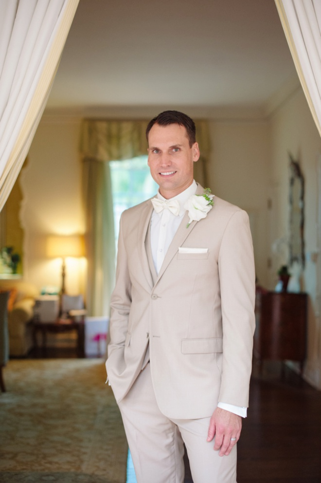 The handsome groom