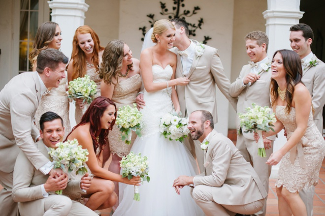 Awesome shot of the wedding party by Walking Eagle Photography