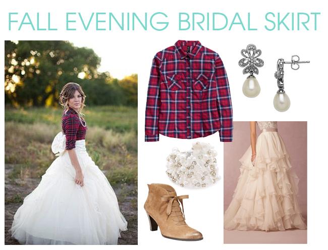 Bridal Skirt for Fall Wedding