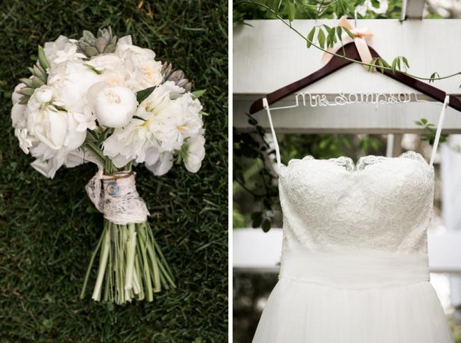 Bouquet + Dress