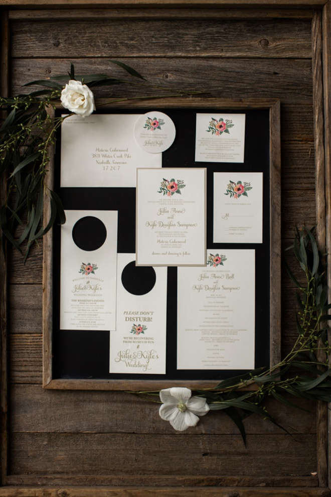 Beautiful, rustic wedding invitations.