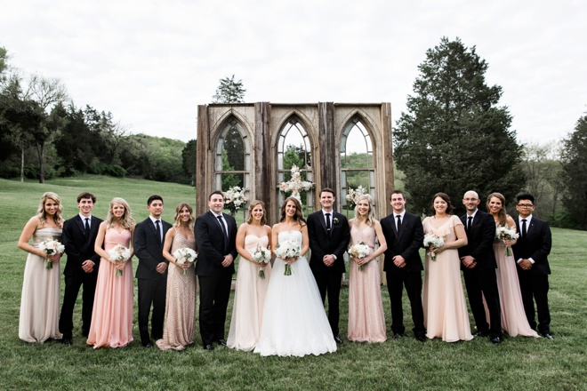 Stunning bridal party.