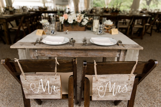 Mr & Mrs reception chairs