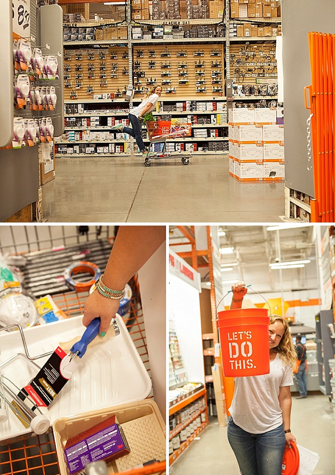 Shopping for my craft room at Home Depot