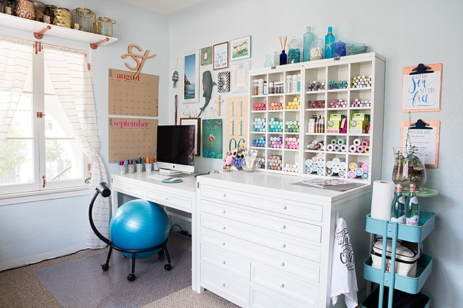 Something Turquoise Blog Office and Craft Room
