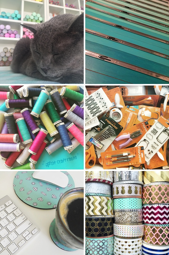 iPhone snaps of Jen's craft room decor + details!