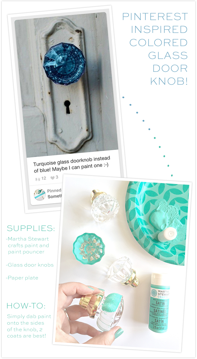 DIY Gorgeous Colored Glass Door Knobs for super cheap!