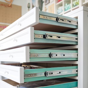 Martha Stewart Craft furniture in Something Turquoise craft room!