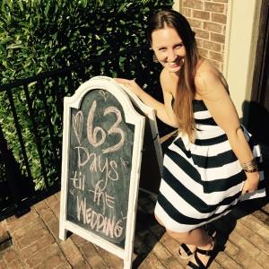 63 Days until the wedding sign!