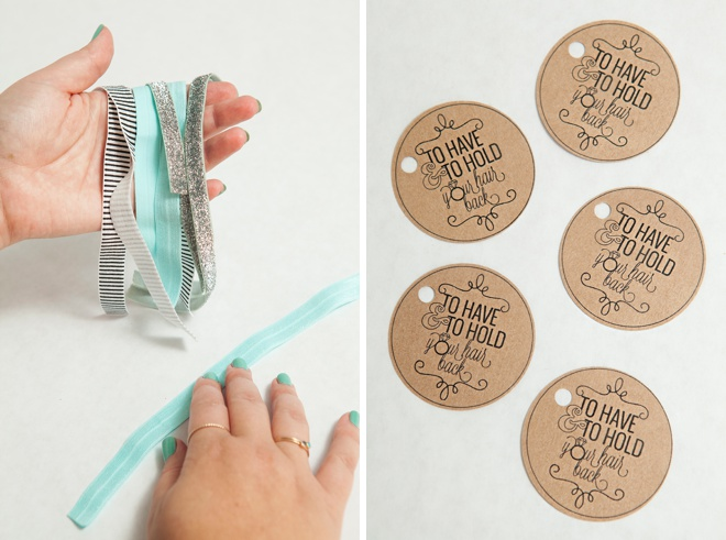 DIY - Bachelorette Party Hair Tie Favors!