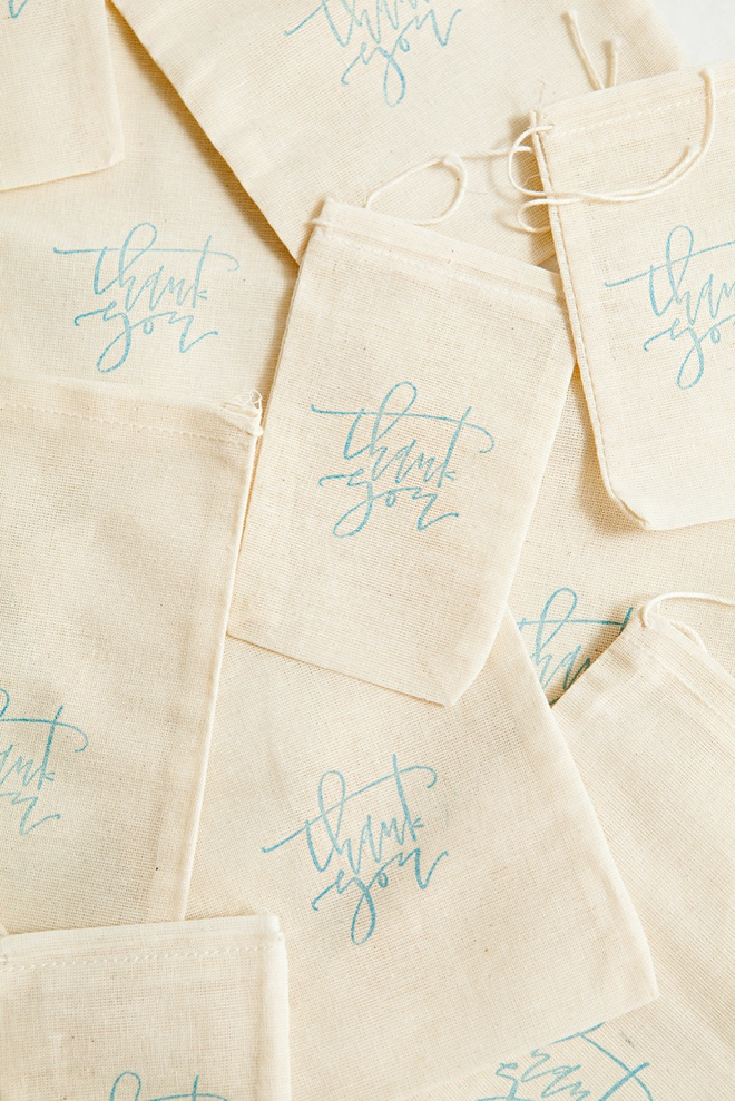 Muslin Bags and Thank You rubber stamp from A Fabulous Fete