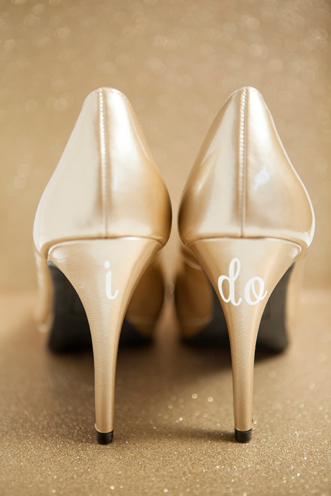 bdc9ec515af3 Learn how to make custom wedding shoe stickers!