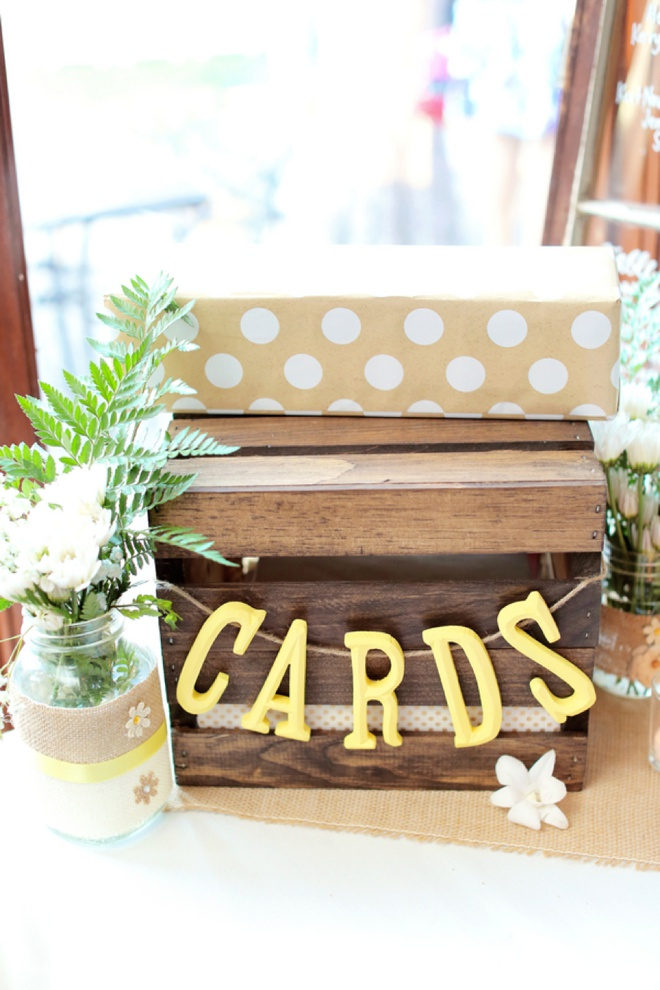Darling DIY wedding card box!