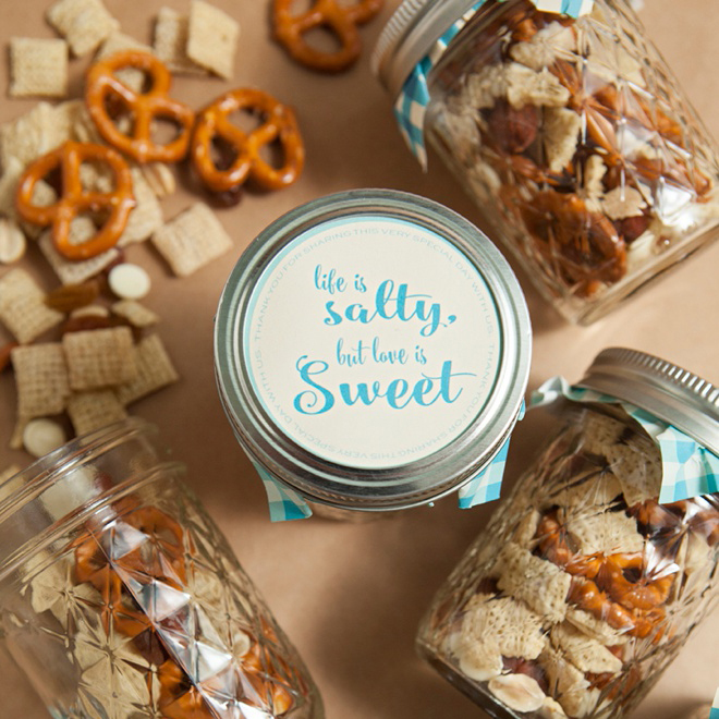Make Your Own Mason Jar Trail Mix Wedding Favors