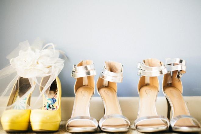 Bride + bridesmaids shoes - so cute!