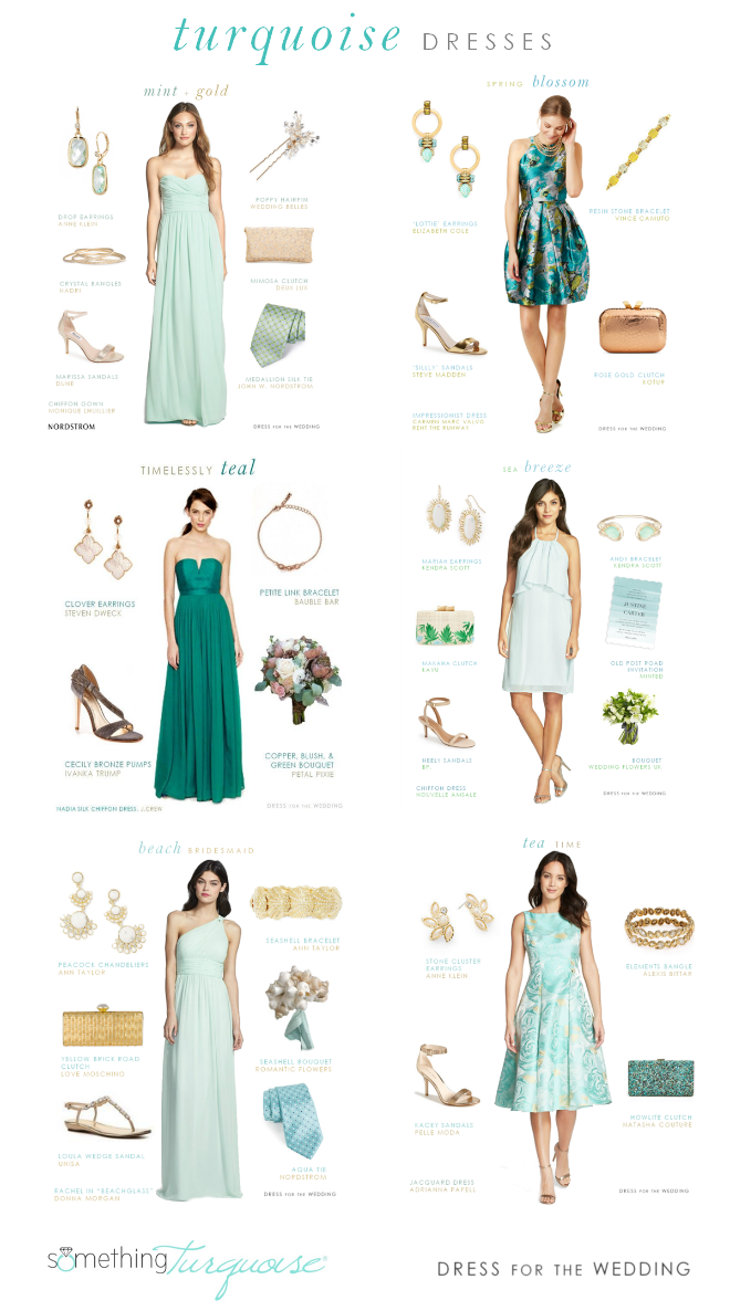 Dress ideas in Turquoise and Light Blue from Dress for the Wedding