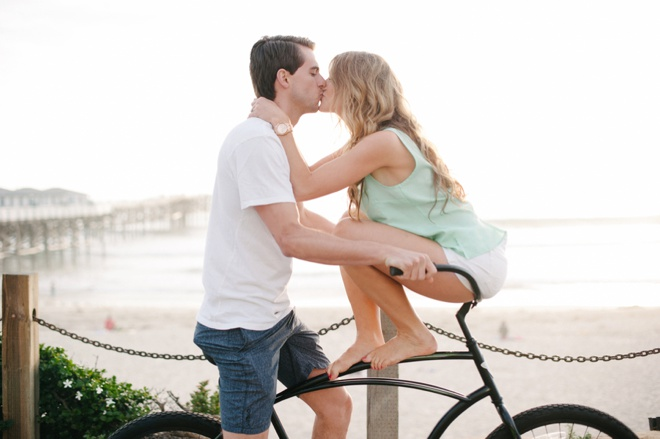 Stunning seaside engagement session on Pacific Beach!