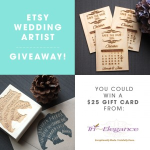 You could win a $25 gift card to Tri~Elegance via Etsy!