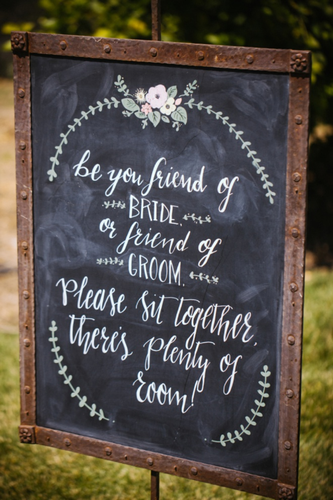 Be You A Friend Of The Bride Or Groom Please Sit