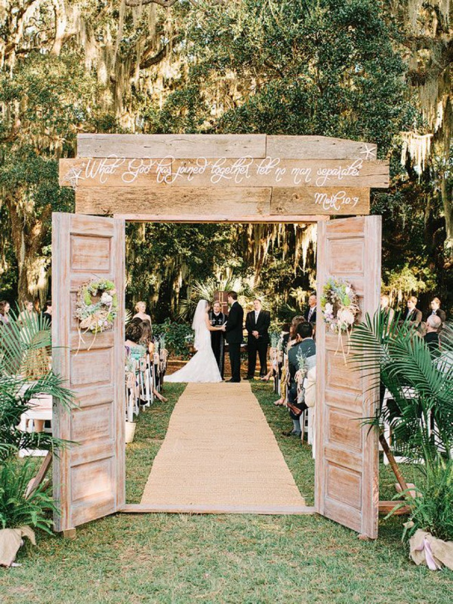 What Has Joined Together Let No Man Separate Wedding Aisle Sign